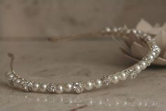 Handmade Hairband Tiara made with Swarovski Crystal Rhinestones & Pearls in Clothes, Shoes & Accessories, Wedding & Formal Occasion, Bridal Accessories Bridal Tiara, Wedding Jewelry, Crystal Rhinestone, Swarovski Crystals, Jewelry Crafts, Handmade Jewelry, Wedding Hair Accessories, Headbands, Jewelry Making