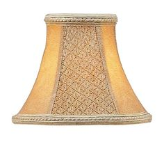 Livex Lighting Chandelier Shade Tan Suede Bell Clip Shade S120
