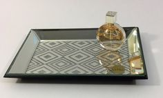 Silver glittered tray by Nicole Miller Home. #gift #gifts #designerhomedecor