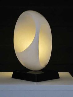 Alabaster on granite Minimalist Abstract #sculpture by #sculptor Rosemarie Powell titled: 'Inner Room' £1100 #art