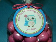 Owl  birthday Owl Birthday Favor Tags Owl by APartyWithPaper, $8.00