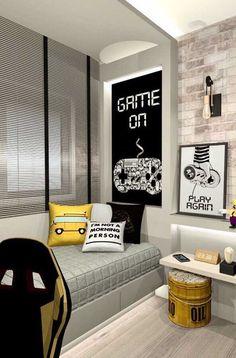 Gamer Bedroom, Boys Bedroom Decor, Small Room Bedroom, Bedroom Décor, Bedroom Ideas, Game Room Decor, Room Setup, Room Wall Decor, Desk Setup
