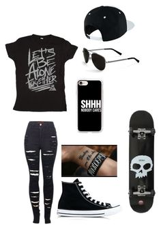 """Untitled #141"" by darksoul7 ❤ liked on Polyvore featuring 2LUV, NIKE, Converse, Calvin Klein and Casetify"