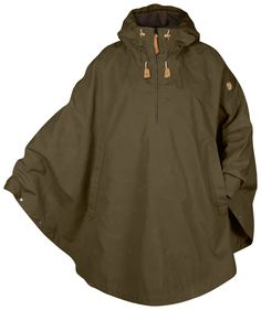 FEATURES of the Fjallraven Luhkka No. 3 Cape Knee-length, reversible cape Fixed adjustable hood Zippered, half-length front opening Large kangaroo pocket with an inside pocket for a mobile phone Zipper pullers and details in natural-toned leather Outdoor Outfit, Outdoor Gear, Look Fashion, Mens Fashion, Tactical Clothing, Vest Jacket, Coats For Women, Ladies Coats, Cool Outfits