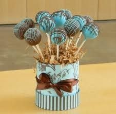 Cake Pop Bouquet Large by SweetsOnAStick on Etsy Cake Pop Bouquet, Cupcake Shops, Cupcake Cakes, Cake Pop Displays, Zucchini Cake, Cookie Pops, Holiday Cakes, Savoury Cake, Chocolate Covered