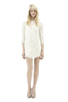 3.1 Phillip Lim white lace shift