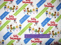 Frosty The Snowman Christmas Magic Silly Kids Cotton Fabric By The Half Yard by DaMommasTextiles on Etsy
