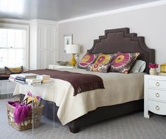 We love this showstopping headboard! See more headboards we love: http://www.bhg.com/rooms/bedroom/headboard/pretty-headboard-decorating-ideas/