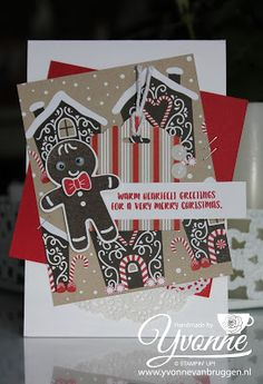 Yvonne is Stampin' & Scrapping: Stampin' Up! Cookie Cutter Christmas card #stampinup