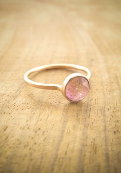 pink tourmaline ring- im not a ring person but i could make an exception!