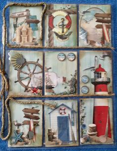 Pocket Pal, Pocket Cards, Arts And Crafts, Paper Crafts, Diy Crafts, Shadow Box Memory, Marianne Design Cards, Nautical Cards, Project Life Cards