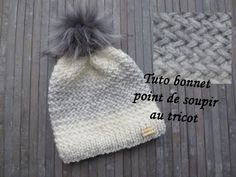 TUTO BONNET POINT SOUPIR AU TRICOT Beanie knitting GORRO PUNTO DOS AGUJAS - YouTube Knitted Hats, Crochet Doilies, Knit Crochet, Crochet Hats For Boys, Knitting Patterns, Boyfriend Crafts, Valentines Diy, Beanies, Sewing