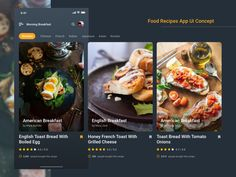 Food Recipes App Design