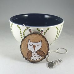 Owl Necklace. White Owl Wood burning Necklace. Handpainted Pendant. Best friend gift. Unique Casual Cool Jewelry. Stocking Stuffer. by MalamiStudio on Etsy https://www.etsy.com/listing/248733878/owl-necklace-white-owl-wood-burning