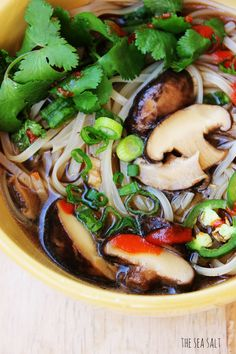 Vegetarian Pho This recipe helped me get an A on my Asian Cuisine Final last semester. Clean Recipes, Soup Recipes, Cooking Recipes, Healthy Recipes, Chicken Recipes, Dinner Recipes, Clean Foods, Thai Recipes, Chicken Soup