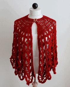 Bordeaux Fashion Cape Crochet Pattern