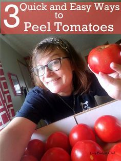 how to peel tomatoes the easy way using an Instant Pot, oven, and water!