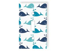 Whale Light Switch Cover - Choose Your Color- Whales Nursery Decor, Ocean Bedroom, Sea Decor, Baby Room, Nautical Playroom, Marine Animals on Etsy, $12.00