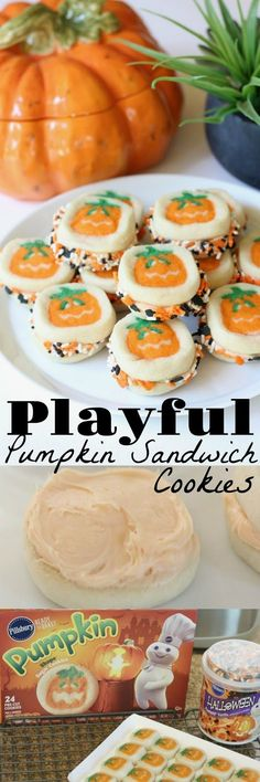 Super easy sugar cookie recipe that's fun for fall and Halloween treats #MadeAtHome #ad