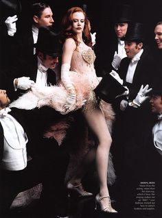 Moulin Rouge, best movie ever, one of Kidman's ribs was broken when her costume was so tight.