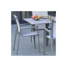Table de jardin NATERIAL Pratt rectangulaire gris | Leroy Merlin ...