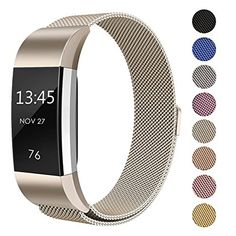 SWEES Metal Bands Compatible Fitbit Charge 2 Milanese Stainless Steel Metal Magnetic Replacement Wristband Small Large 55 99 for Women Men Silver Champagne Rose Gold Black Colorful >>> Continue to the product at the image link. (This is an affiliate link) Stainless Steel Metal, Stainless Steel Jewelry, Fitbit Strap, Charge 2 Bands, Wearable Device, Fitbit Charge, Metal Bands, Watch Bands, Bracelet Watch