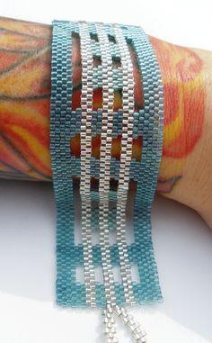 https://flic.kr/p/6Z9sDF | Surf Glass Peyote Stitch Bracelet