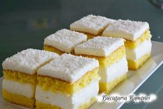 Romanian Desserts, Cake Recipes, Dessert Recipes, Cornbread, Feta, Smoothies, Sweet Treats, Cheesecake, Food And Drink