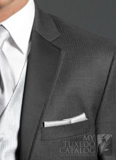 Charcoal Stripe 'Madison' I Tuxedo Wedding Tuxedos, Tuxedo Wedding, Wedding Men, Dream Wedding, Wedding Ideas, Trendy Looks For Men, Bridesmaids And Groomsmen, Groom Attire, Style And Grace