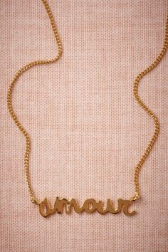 Amour Necklace in SHOP Shoes & Accessories Jewelry at BHLDN