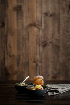 Barley, Smoked Paprika Red Potatoes, and Hard Boiled Egg