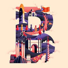 Glasgow-based illustrator and graphic designer Jack Daly has developed the first five letters in a clever typographic collection called Wanderlust Alp