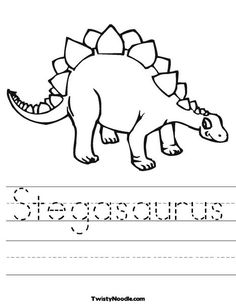 stegasaurus worksheet that you can customize and print for kids see more dinosaur coloring pages