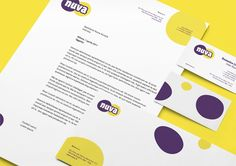 AGRICOPER, NUVA BRAND DEVELOPMENT. The creation of the brand image of Nuva has also been extended to the stationery.