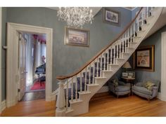 Beautiful staircase in home built in 1870.
