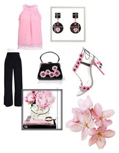 """""""Date night💟"""" by ashlyn024 ❤ liked on Polyvore featuring Sophia Webster, Chanel, Voodoo Vixen, Oliver Gal Artist Co. and NIC+ZOE"""