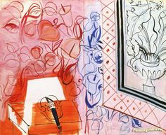 Music and Pink Violin Artwork by Raoul Dufy Hand-painted and Art Prints on canvas for sale,you can custom the size and frame
