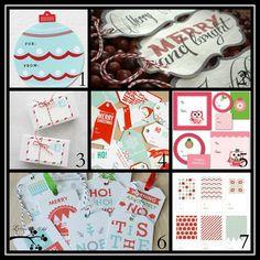 Free Printable Gift tags....