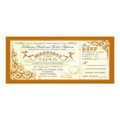 Elegant Wedding Invitation vintage wedding tickets with elegant flourishes card Carton Invitation, Ticket Invitation, Invitation Paper, Custom Invitations, Vintage Invitations, Shower Invitations, Elegant Wedding Invitations, Wedding Stationary, Vintage Wedding Theme