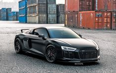 Audi Plus boasting Sichtcarbon body kit, a satin black foil and a set of Strasse Forged Wheels. Audi Sport, Sport Cars, Black Audi, Car Parts And Accessories, Audi R8 V10, Lux Cars, Old School Cars, Custom Wheels, Modified Cars