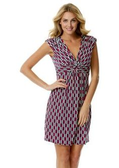 Laundry by Shelli Segal  Printed Empire-waist Dress