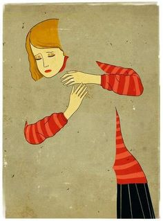 'Hugging the shadows' by Emiliano Ponzi