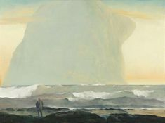 Rick Amor (Australian, b. 1948), Visitor by the Southern Seas, 2000. Oil on linen, 97.0 x 130.0cm.