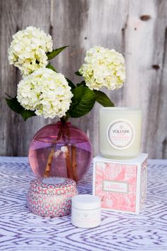 Voluspa candles!! MY ABSOLUTE FAV!! :) I always buy them from this cute store in my hometown and at Patina in the cities!