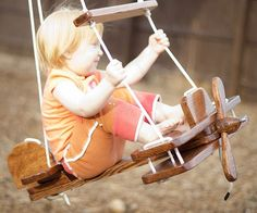 Get your little adventurers out of the house by entertaining them using this airplane tree swing. The plane features a 22 inch wingspan, no sharp edges, and easy to grip handles so they're safe and comfortable while they get airborne.