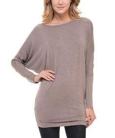 Another great find on #zulily! Mocha Dolman Tee #zulilyfinds