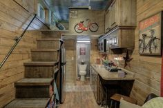 PERFECTION!!! Lots of pics :) Rustic Container Cabin | Tiny House Swoon