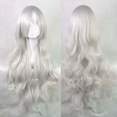 Corpse Bride Curly Big Body Wave Cosplay Wig Silvery by knifwigs