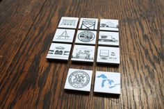 Detroit and Michigan Icon Illustration Ceramic Tile by citybird, $10.00