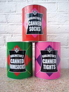 Tin Can Packaging / Burlington Socks / Tights